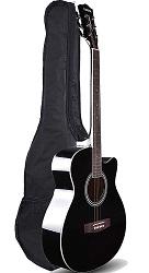 Kadence Black Acoustic Guitar