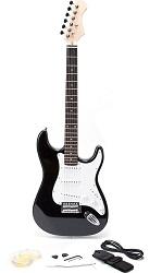 Rockjam Full Size Black Electric Guitar