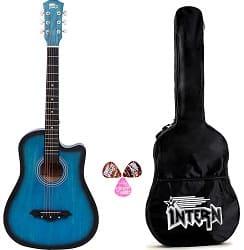 Intern INT-38C Blue Acoustic Guitar