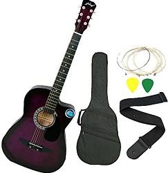 Jixing Purple Acoustic Guitar