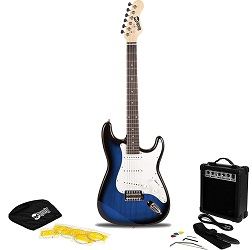 RockJam RJEG02-SK-BB Electric Guitar