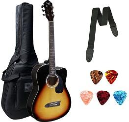 Xtag Cutaway Sun Burst Acoustic Guitar